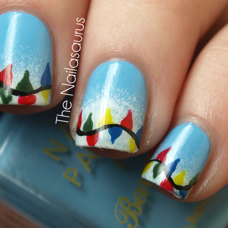 12 Days of Christmas Nails: Day 8… All of the Lights