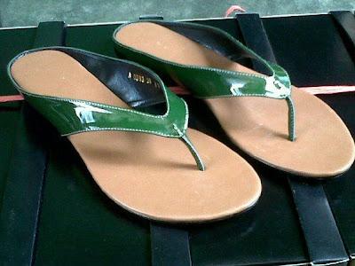 aneka model sepatu sandal wanita murah ,model sandal wanita Green