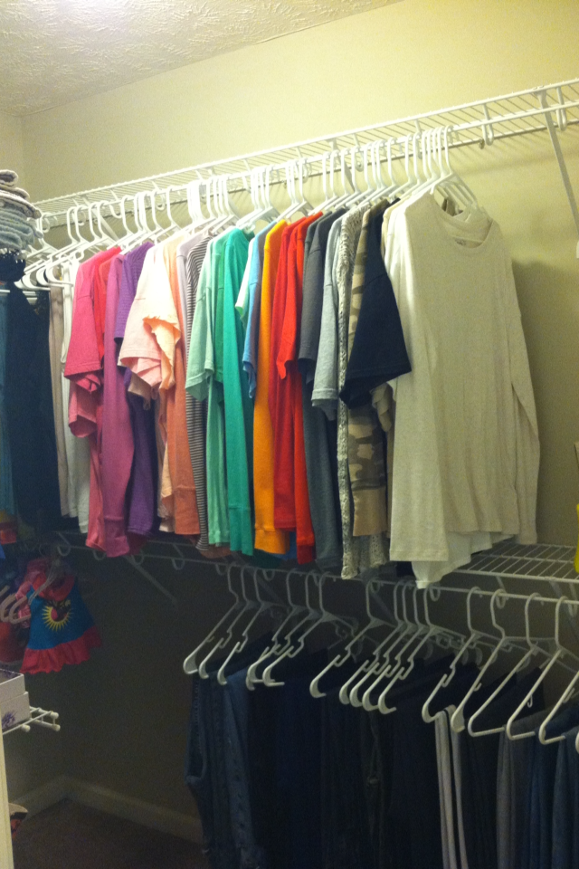 My home life story organizing your walk in closet for How to organize your walk in closet