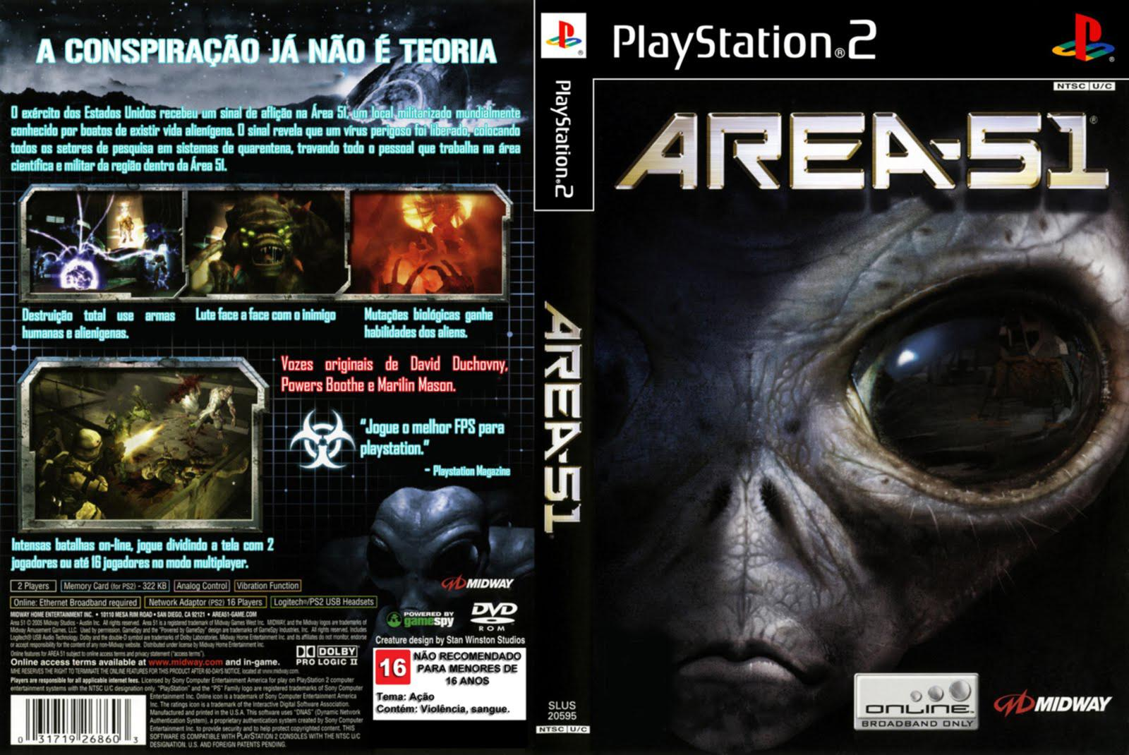 Area 51 PS2 Game