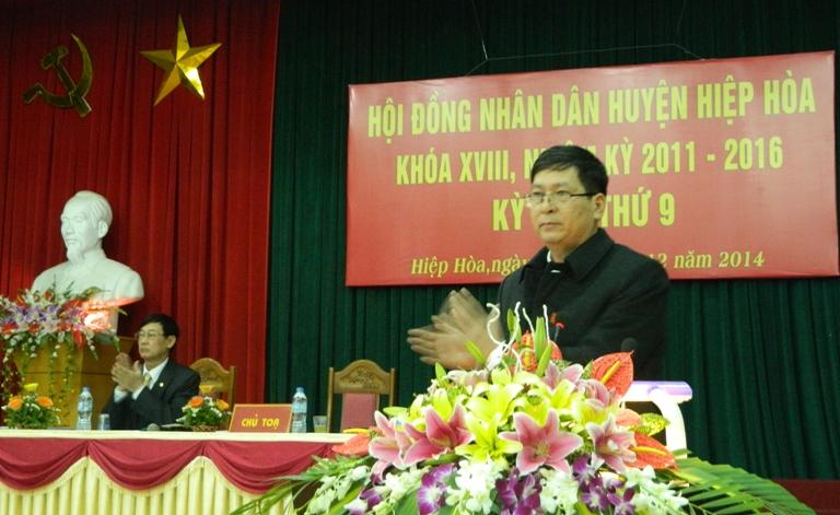 HĐND huyện Hiệp Hòa khai mạc kỳ họp thứ 9
