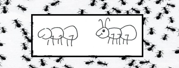 easy to draw ants