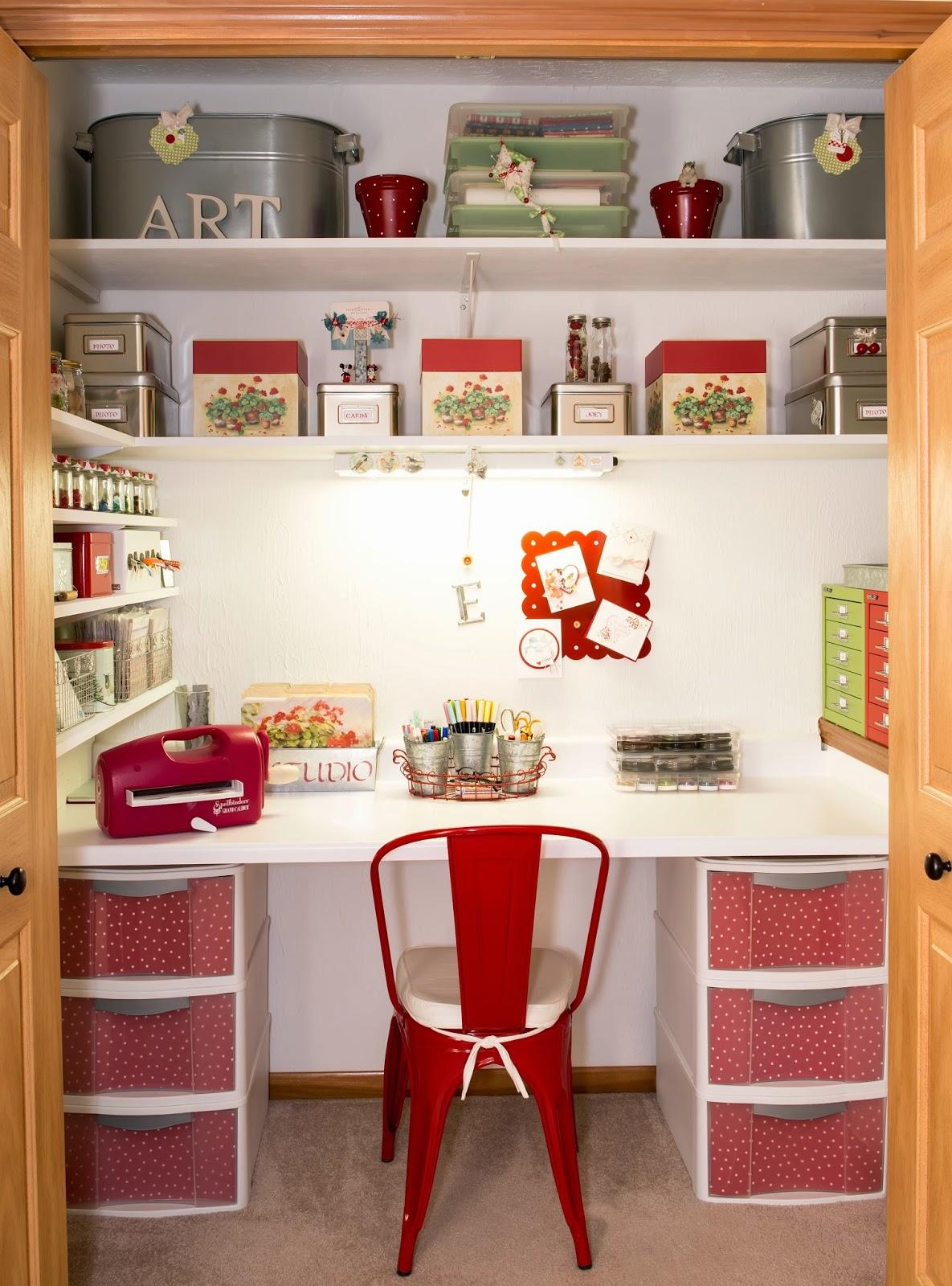 Turn a Closet into a Home Office | Diamond Vogel