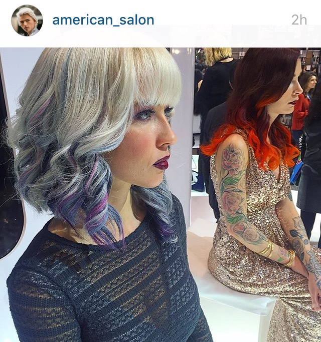 Keely Webster (Bellamy) Chicago Hair Show feature by American Salon March 2016