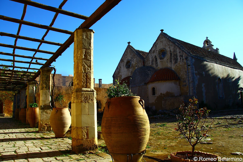 Back of Arkadi Monastery Things to Do in Crete Greece