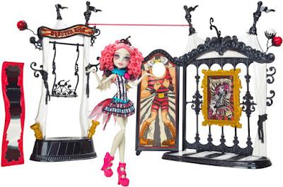 TOYS : JUGUETES - MONSTER HIGH : Freak du chic  Circus Scaregrounds & Rochelle Goyle | Circo + Muñeca - Doll  Producto Oficial 2015 | Mattel | A partir de 6 años  Comprar en Amazon