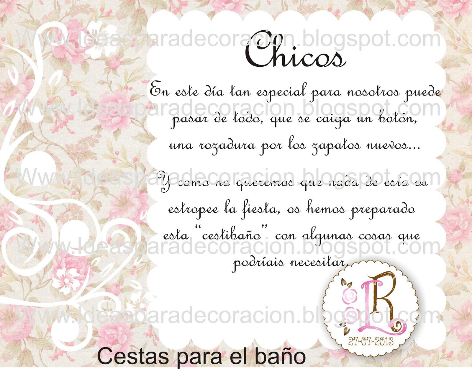 Decoracion Baño Boda:Ideas para la decoración de Fiestas Infantiles: Kit de boda floral