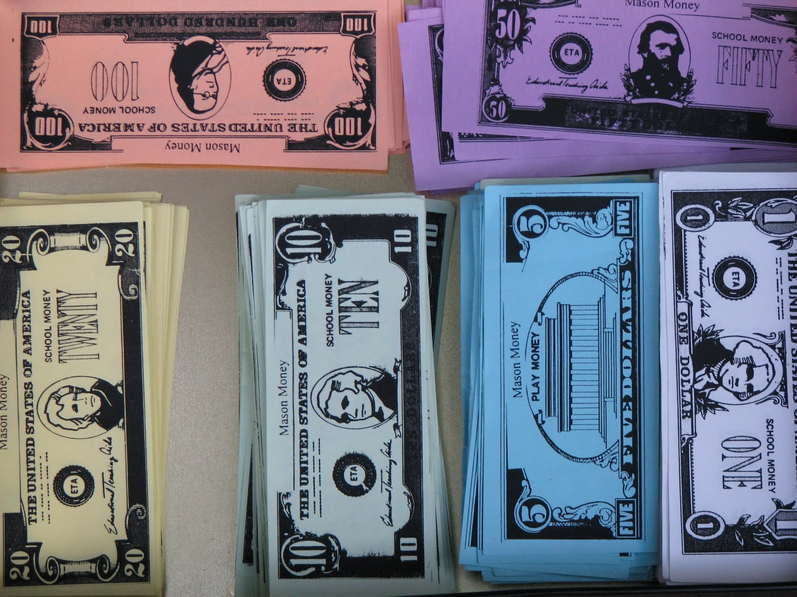 ... 100 dollar bill displaying 17 images for printable play money 100