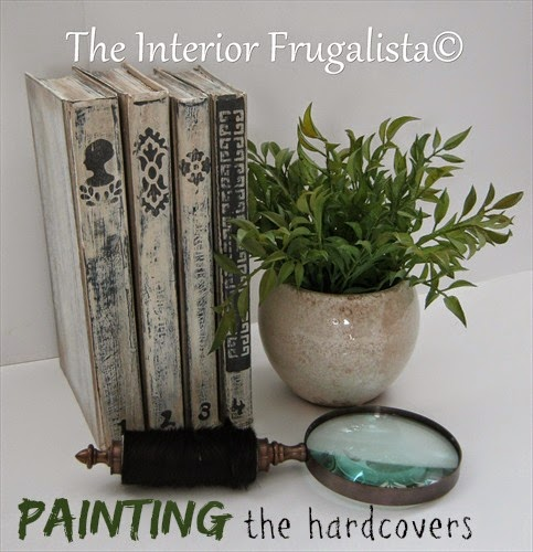Painting hardcover books for home decor