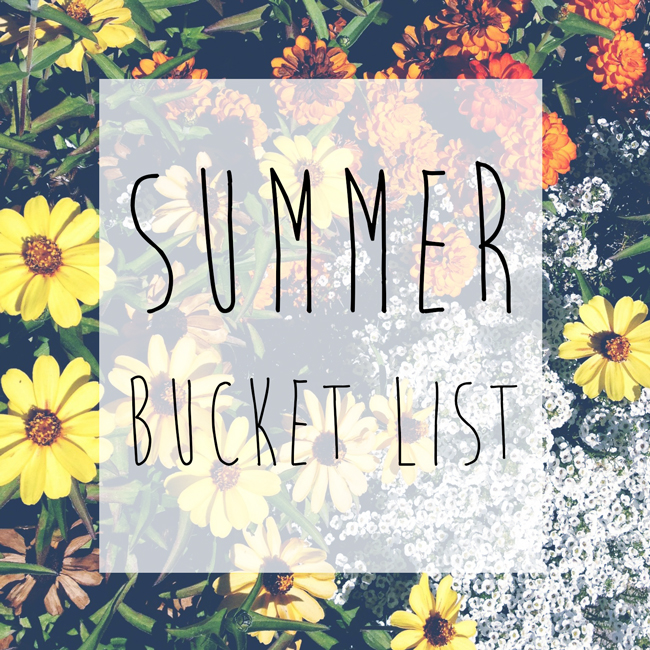 summer bucket list.