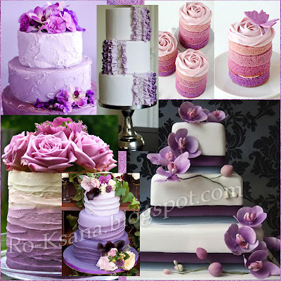 Десерт торт свадьба палитра Сияющая Орхидея Radiant Orchid цвет года 2014 модные украшения дизайн