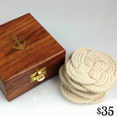 Rope Coasters with Anchor Box