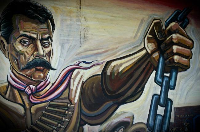 Vpc al zapatismo lo carcomi la envidia y la for Emiliano zapata mural
