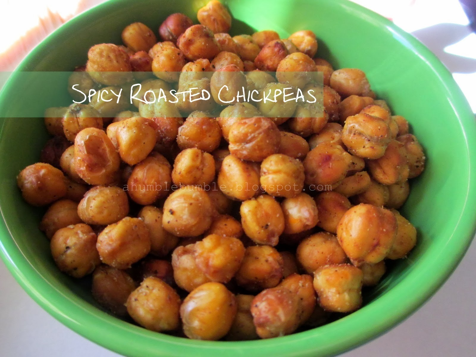 Humble Bumble: Spicy Roasted Chickpeas Recipe