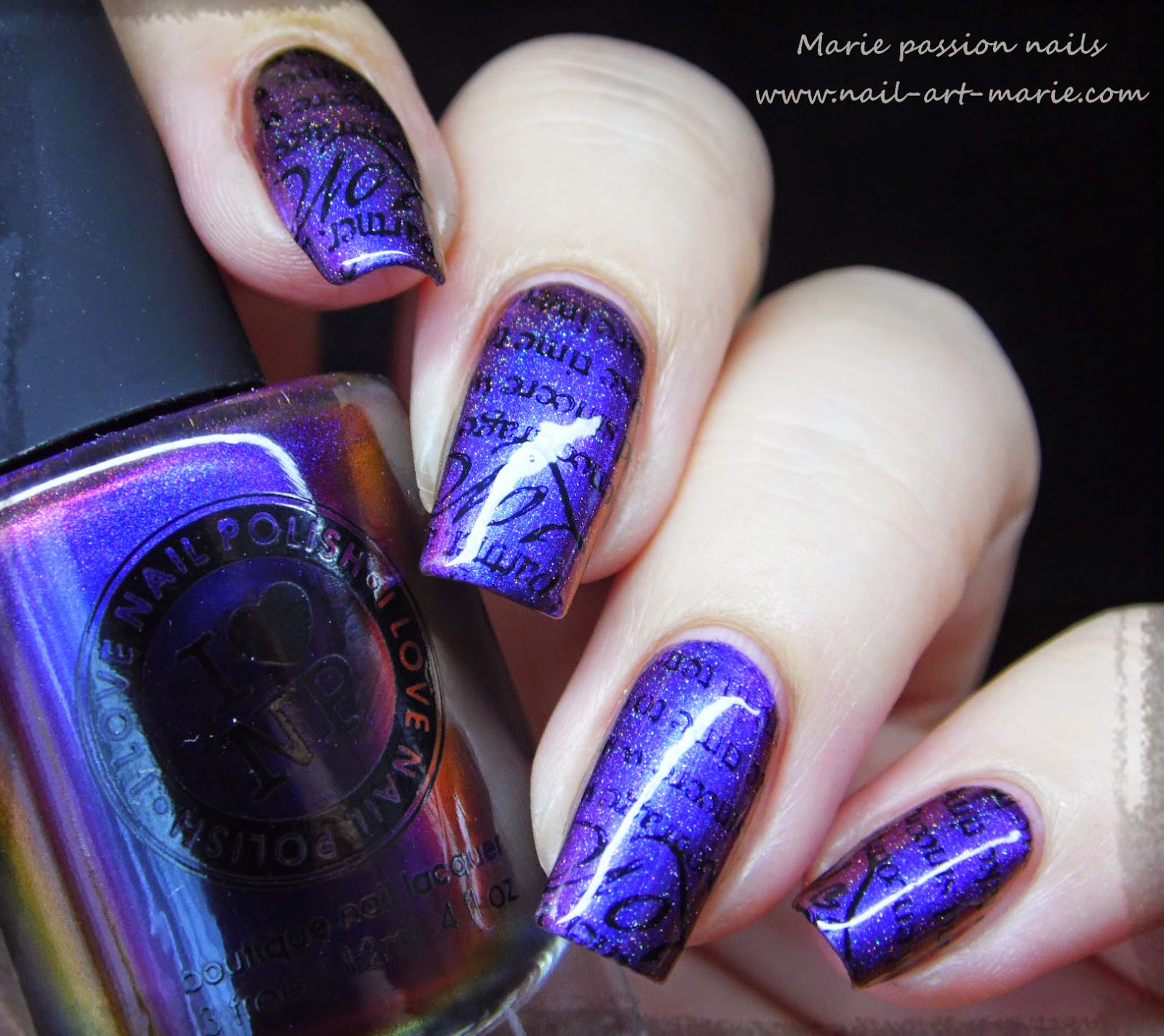 nail art stamping romantique10