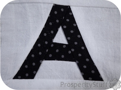 Crossword Puzzle Quilt letter A