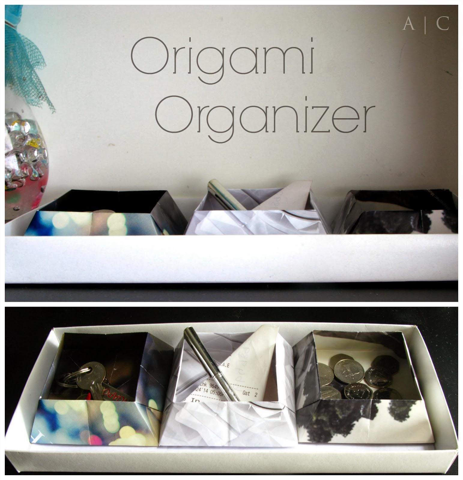 Origami organizer boxes alternate creations - Origami desk organizer ...