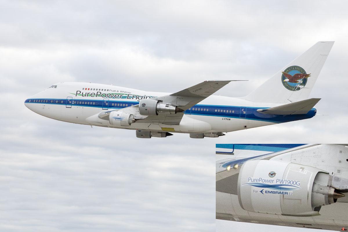É MAIS QUE VOAR | Motor da Pratt & Whitney para os E-Jets E2, PurePower® começa programa de ensaios