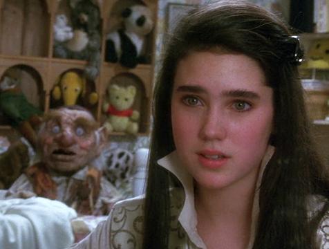 Sarah (Jennifer Connelly) y Hoggle en Dentro del laberinto - Cine de Escritor