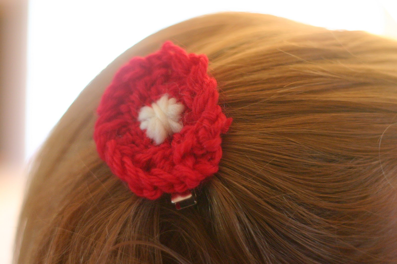 Finger Knitting Flowers : Naturally mom finger knitted flower hair bands and clips