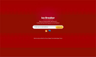 Ice Breaker Red Blogger Template