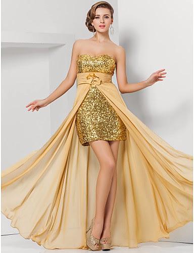 Fenomenales vestidos de fiesta asimétricos