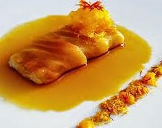 Filetes de Pescado con Crema de Naranja
