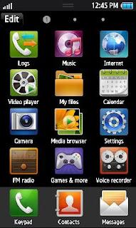 Samsung GT-S8530 Default Theme Free Download Menu