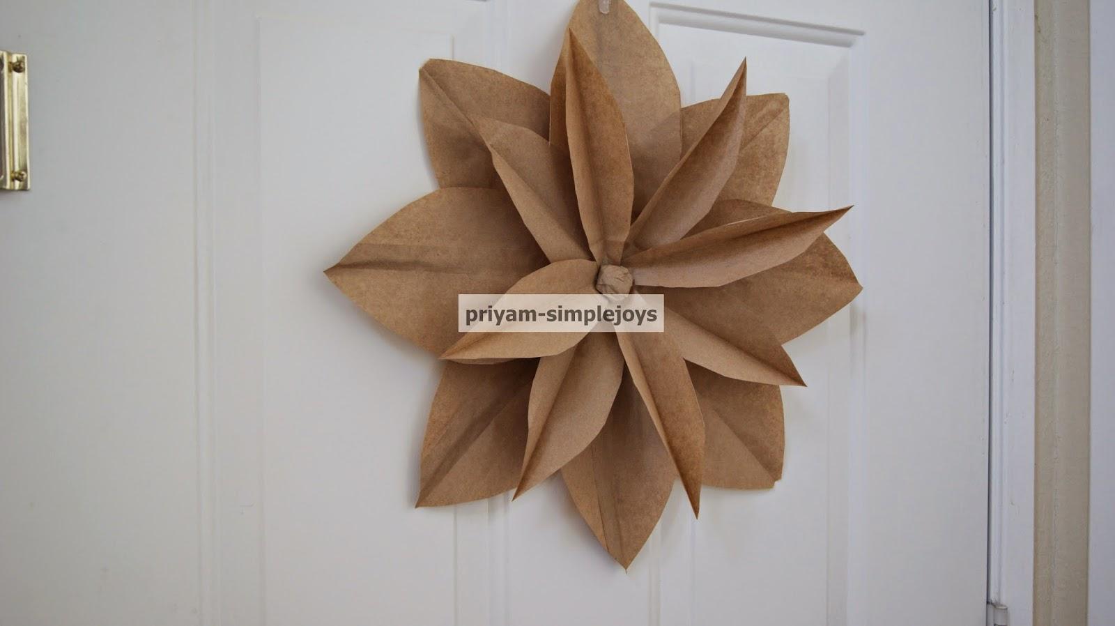 Simplejoys Brown Paper Bag Flower