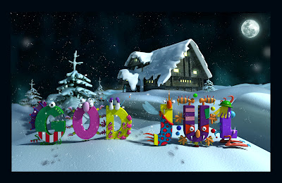 3D Christmas Cards Wallpapers