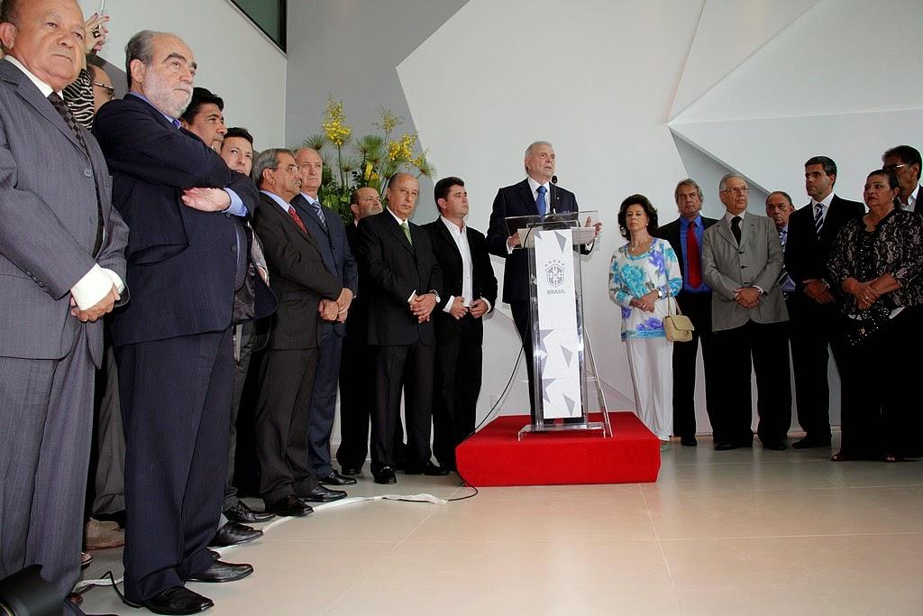 Durante discurso, presidente Marin enfatizou a importância da sede em Teresópolis