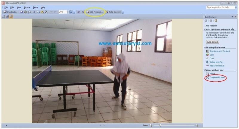 Trik Merubah Ukuran File Photo Dengan Microsoft Office 2010