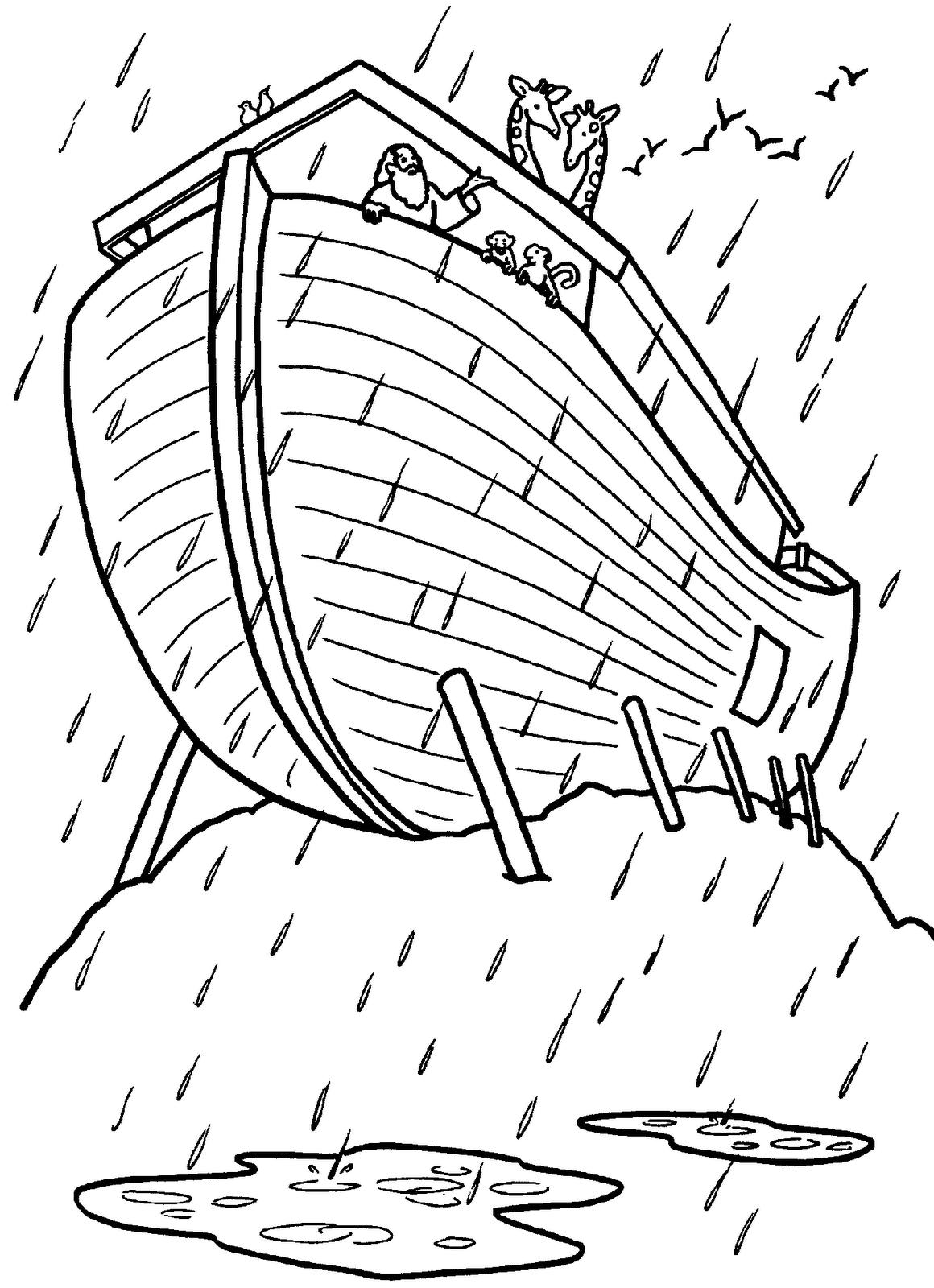 Imagenes Cristianas Para Colorear: Dibujos para colorear del Arca de Noe