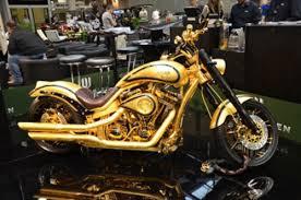 customização de motos em folha de ouro