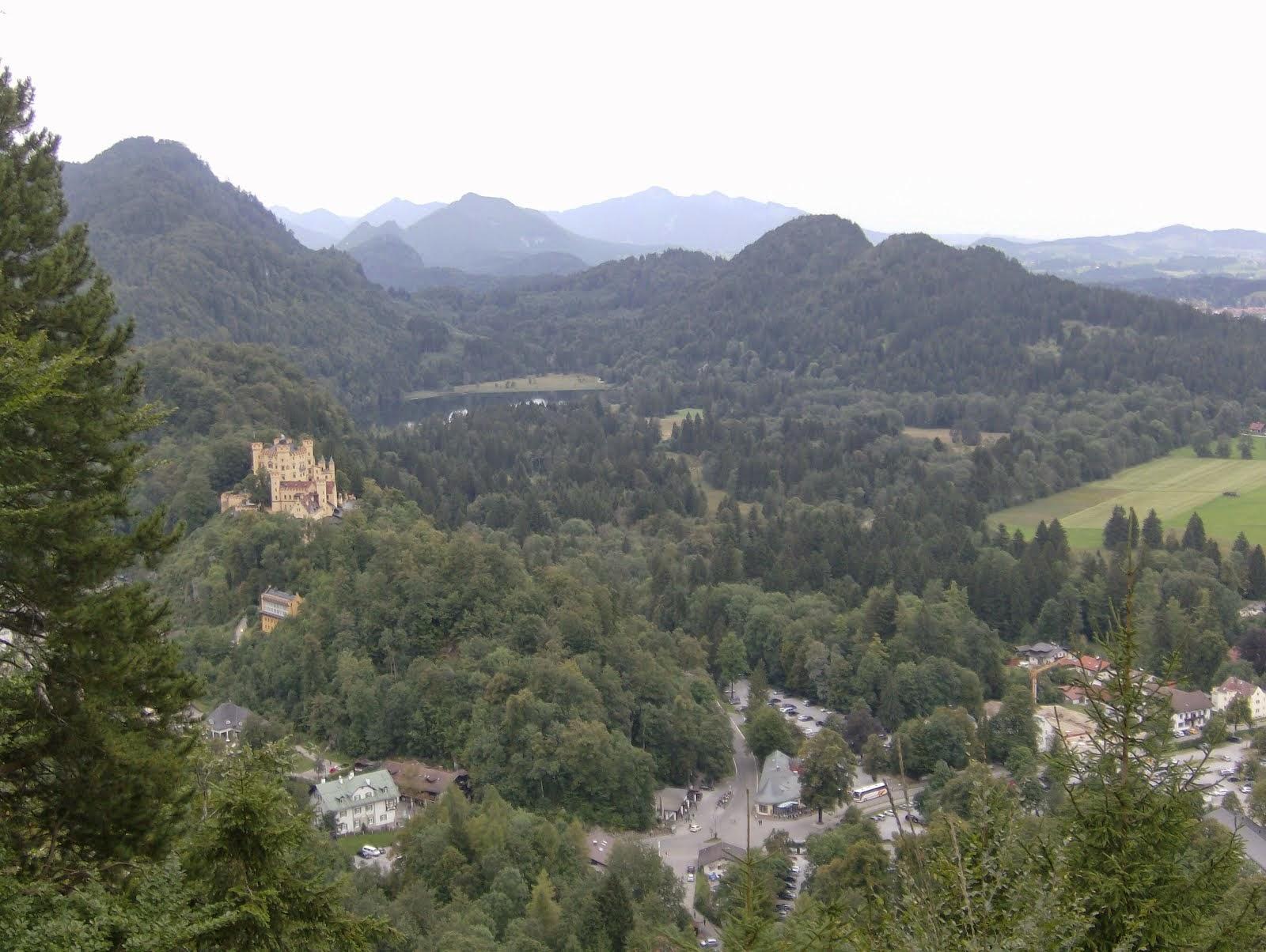 Ruta en los Alpes