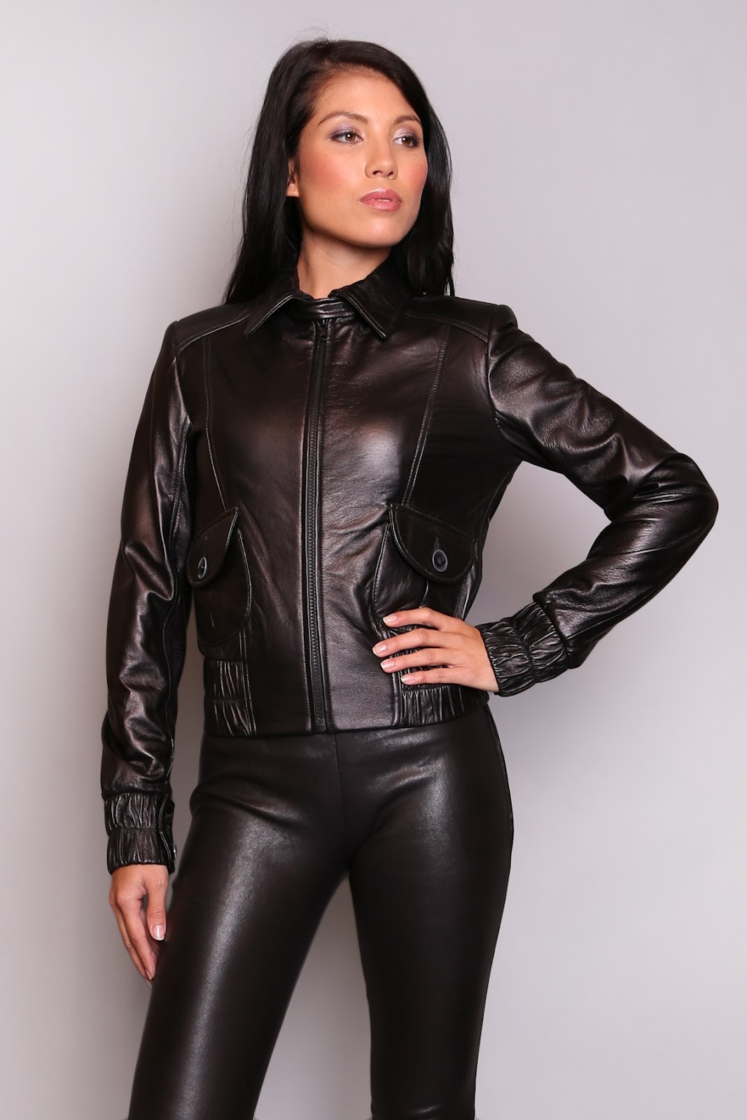 sexy ladies leather