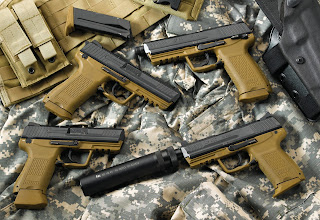 Guns Pistols Silencer Digital Camo Glock G18 HD Wallpaper