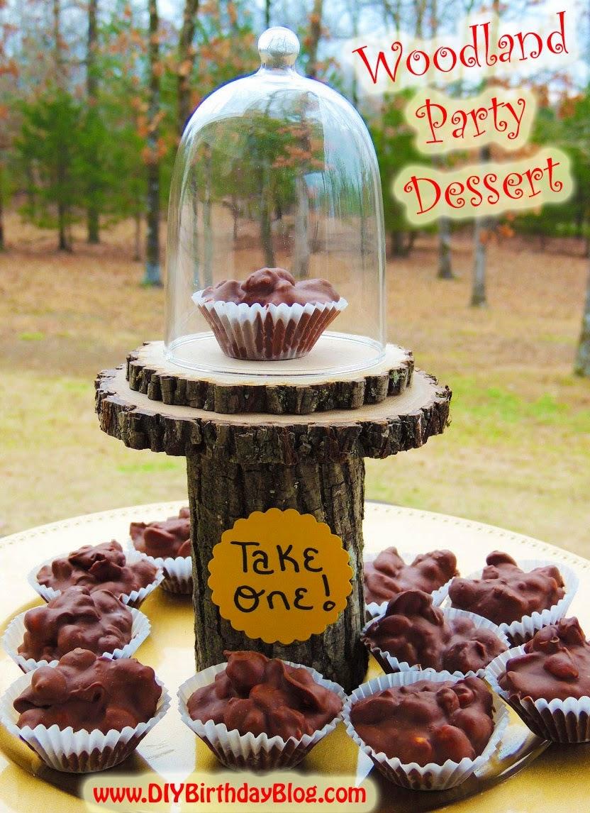 Diy birthday blog diy woodland birthday party dessert idea for Food bar party