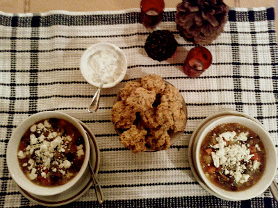 Mediterranean Vegetable Bean Soup With Sweet Potato And Walnut Fritters