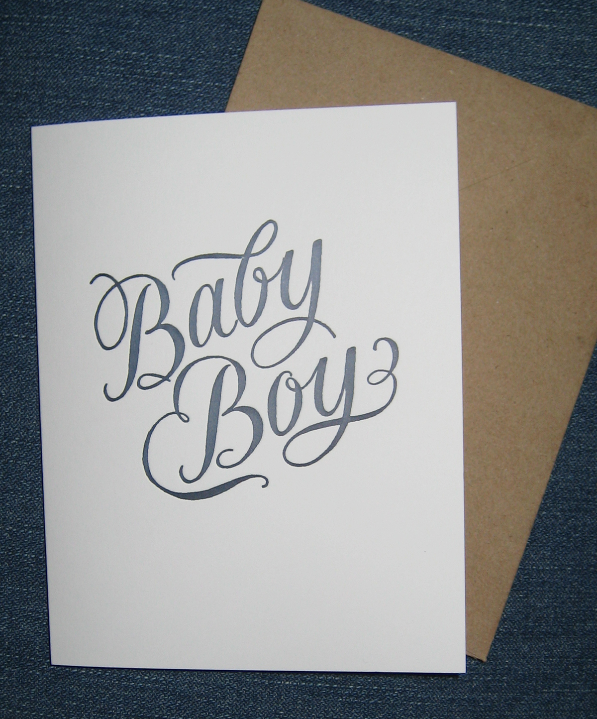 A to z calligraphy baby boy