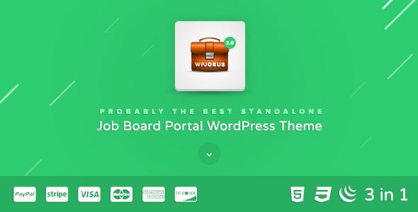 Free Download WPJobus V2.0.9 - Job Board and Resumes WordPress Theme