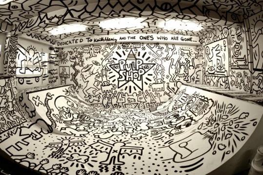 Keith Haring Tribute Skate Ramp