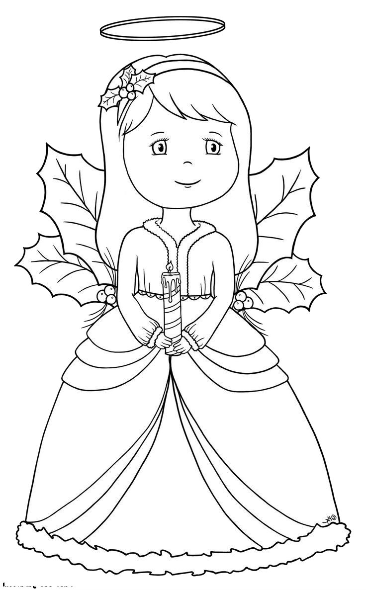 source angel christmas coloring pages