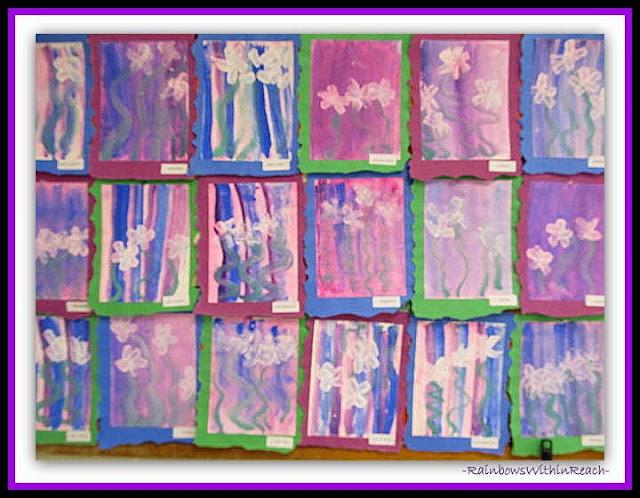 Monet Paintings in Kindergarten via RainbowsWithinReach