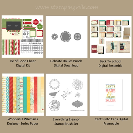 New Stampin' Up! digital downloads released July 10, 2012