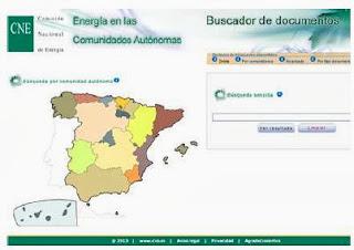 """Buscador documental """"Energía en las Comunidades Autónomas"""""""