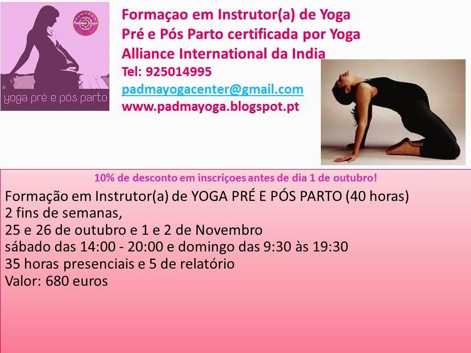 Formaçao em Instrutor de Yoga 40 horas