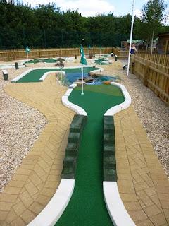 The Peterborough Minigolf course at Dobbies Garden Centre