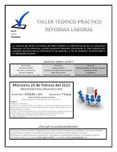 2do. Taller Teórico Práctico Reforma Laboral