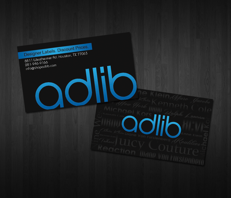 BUSINESS CARD DESIGN FOR CLOTHING STORE | WHIM DESIGN PLACE